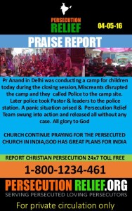 PR. Anand Delhi - Praise Report