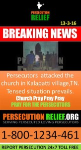 Persecutors attacked church in Tamil Nadu