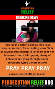 Pray for this sister & son