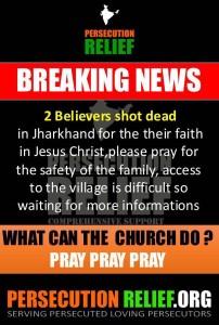 2 believers shot dead