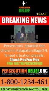 Persecutors attacked church in Tamil Nadu